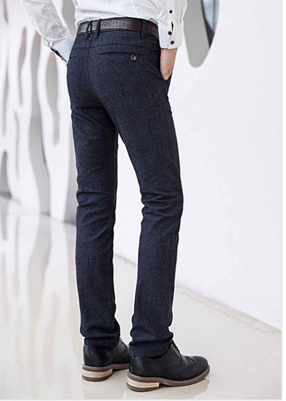 H2aa61051ee9f4a47a43bf6718108bbf75 HCYX Brand 2019 four season Classic High quality Men's Casual Pants Trousers Men Casual Pants Business Straight Size 38