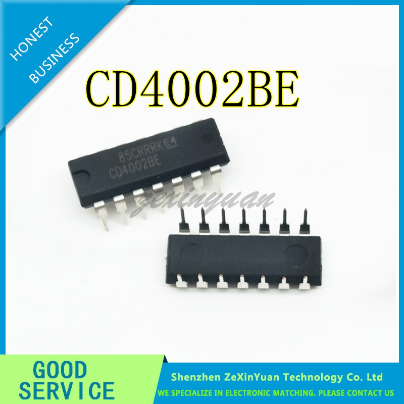 10pcs/lot CD4002BE CD4002B CD4002 DIP-14  New Original