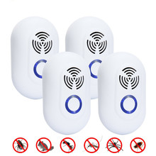 6 4 pcs Ultrasonic Pest Repeller Anti Mosquito Killer Electronic Insect Repeller Rat Mouse Cockroach Pest Repellent US Dropship
