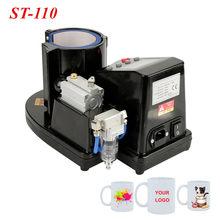 Mug Press Machine Pneumatic Auto Mug Transfer Sublimation Heat Press Machine ST-110 Black EU Plug 230V