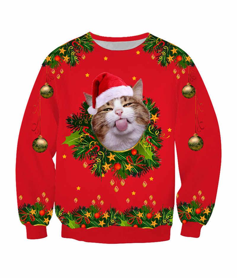 2020 New Year 3d Print Funny Cat Men Plus Size Men S Xmas Jumper Fleece Pullover Men Ugly Christmas Men S Sweater Tops Coat Man Pullovers Aliexpress