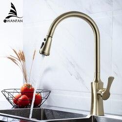 Keuken Kranen Geborsteld Goud Torneira Para Cozinha De Parede Kraan Voor Keuken Water Mengkraan Black Sink Mixer Kraan 866388J