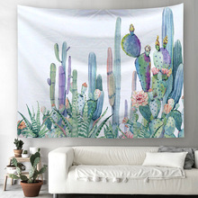 Nordic Fashion Wall Cloth Tapestries Cactus Series 3D Printed Hanging Tapestry Travel Trip Throw Blanket Living Room Decor