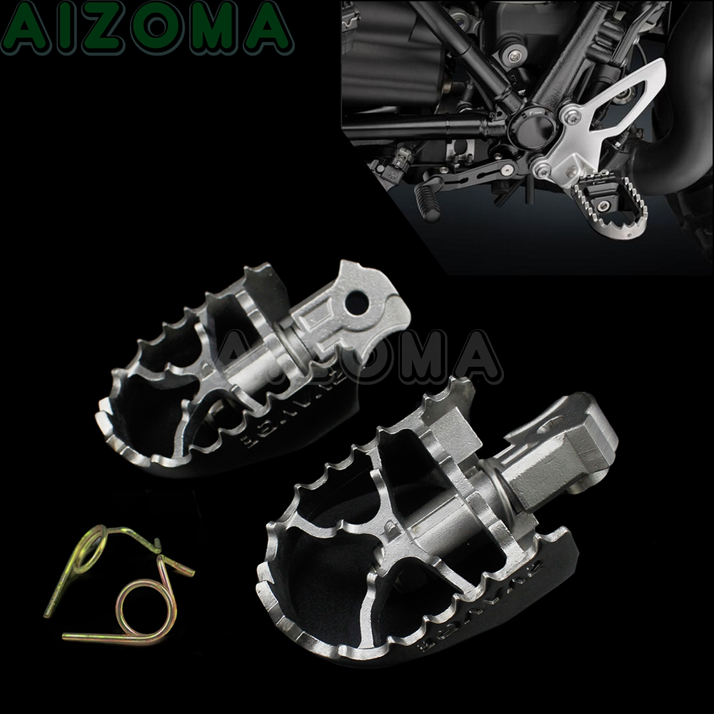 2pcs Motorcycle Front Foot Peg Pedals Stainless Steel Footpegs Rest  For BMW R NINE T  2014-2018