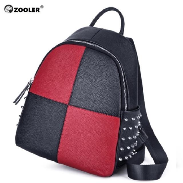 Backpack Female Genuine Cow Leather Women backpack Zipper Trendy Ladies Shoulder Bag Classic Women Travel Bag Daily new -lt235