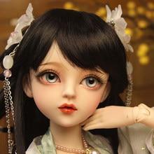 60cm bjddoll presentes para menina boneca chinesa com roupas cabelo preto livre olhos boneca diy dia dos namorados/presente de aniversário para crianças