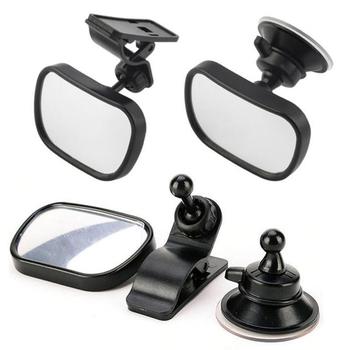 Tylne siedzenie samochodu widok dziecko dziecko lusterko bezpieczeństwa klip i przyssawka podwójny uchwyt lusterko wsteczne część zamienna części wewnętrzne lusterka tanie i dobre opinie CN (pochodzenie) ABS+ Acrylic Lusterka wewnętrzne 0 088kg 8inch rearview mirror 2019 5inch 11inch 11 5*8*5CM 88*56*25MM