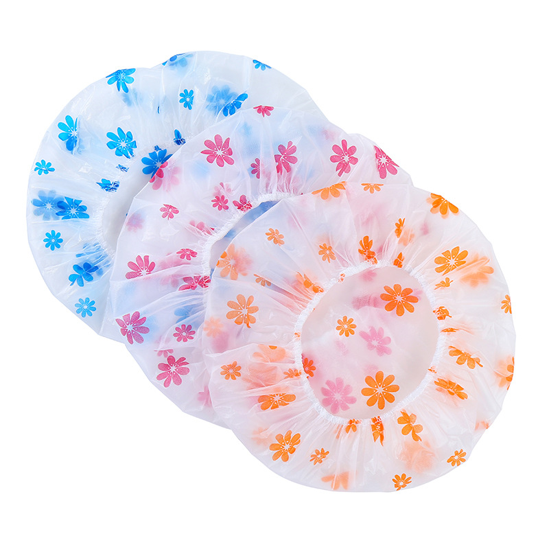 1PC Dot Waterproof Shower Cap Thicken Elastic Bath Hat Bathing Cap For Women Hair Salon Bathroom Products