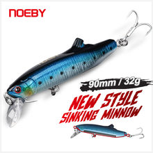 Noeby Minnow Wobbler Fishing Lure 90mm 32g Sinking Long Casting Saltwater Artificial Hard Bait Swimbait for Bass Pike Trout Lure