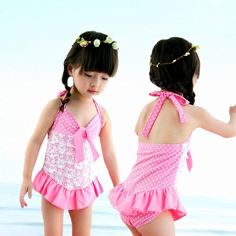 Cool KID'S Swimwear GIRL'S Infants Small Children Light Pink Lace Dance Princess Dress-One-piece Cute Swimwear
