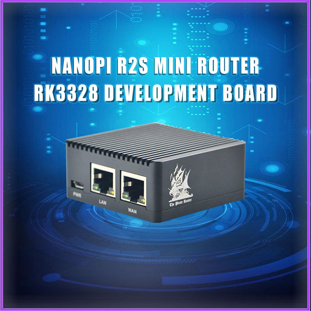 NanoPi R2S Dual Gbps Ethernet Gateways Support OpenWrt LEDE System V2ray Ssr Linux Board Rockchip RK3328