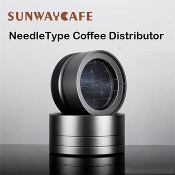 Needle Coffee Tamper 58MM Coffee Distributor Leveler Tool NeedleType Coffee Powder Manual Barista Powder Coffee Espresso Latte недорого