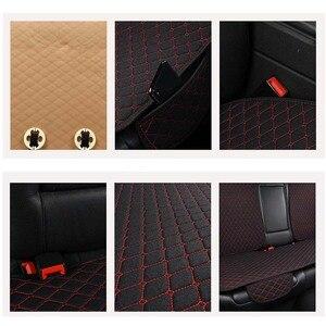 Image 5 - Vlas Auto Seat Cover Protector Met Rugleuning Voor Achter Seat Terug Taille Wasbaar Kussen Pad Mat Voor Auto Universal Fit meest Auto