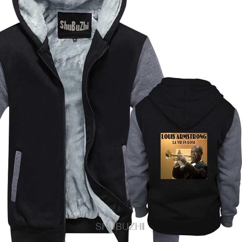 Louis Armstrong ceket caz trompetçi müzisyen erkekler kalın hoodies kral Oliver rahat hoodie kış kalın ceket ceket sbz6448