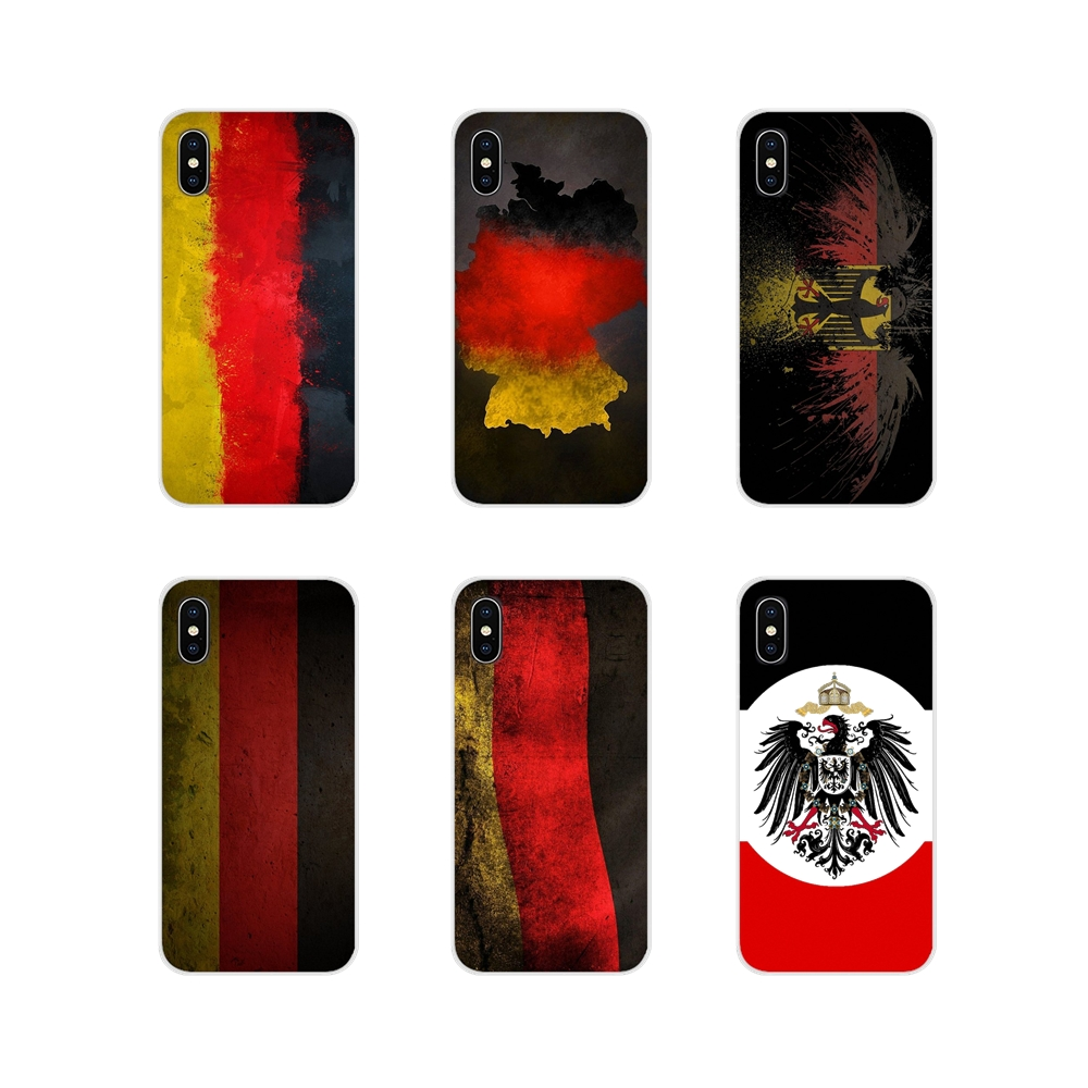 For Apple iPhone X XR XS 11Pro MAX 4S 5S 5C SE 6S 7 8 Plus ipod touch 5 6 Germany Flag Accessories Phone Cases Covers