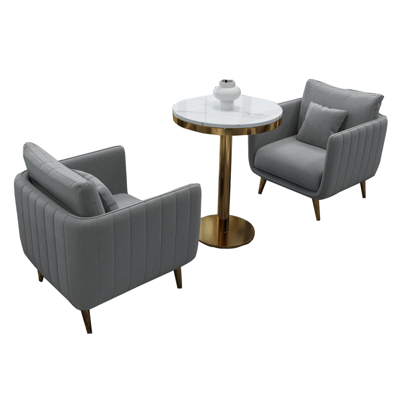 Nordic Negotiating Table And Chair Combination Light Luxury Marble Dining Table Hotel Customer Sales Office Round Table Casual C