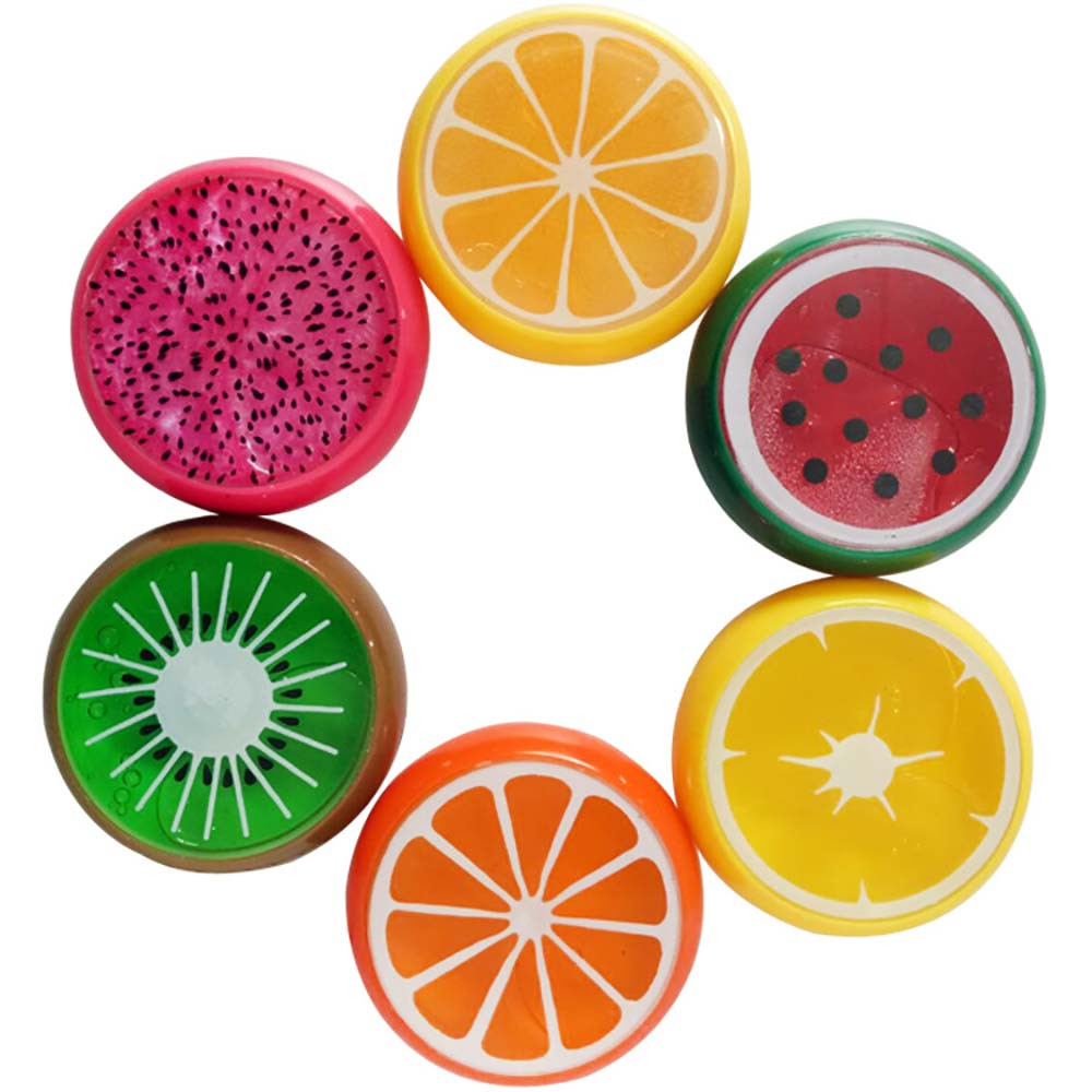 Fruit Smiley Pearly Clay Crystal Mud Six Colors Transparent Jelly Mud Clay Rubber Mud Hand Gum Plasticine Slime Kid Toys  L103