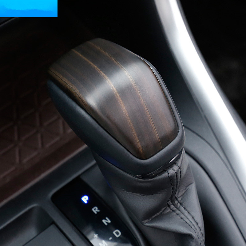 Carbon fibre For Toyota RAV4 2019 2020 2021 Accessories Car gear shift lever knob handle Cover Trim Sticker styling 1pcs