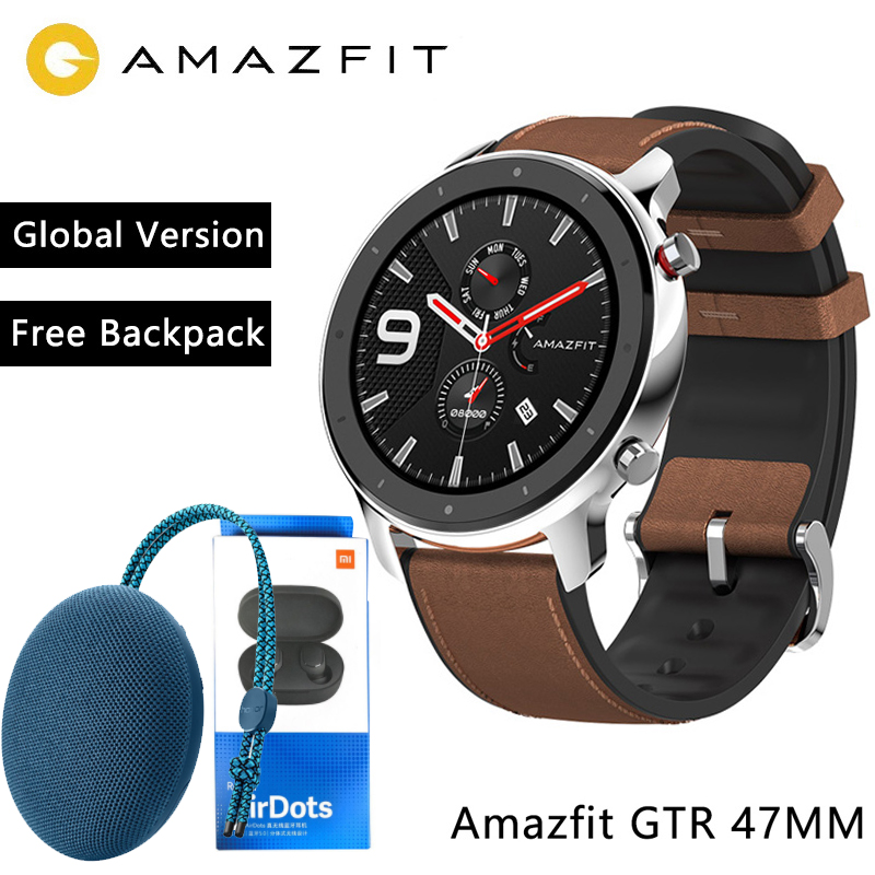 Huami Amazfit GTR 47mm 42mm Xiaomi Smart Watch With GPS 5ATM Waterproof 24 Days Battery Life 12 Sports Mode Bluetooth