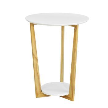 SoBuy®FBT52-WN 2 poziomy okrągły drewniany stolik stół herbata kawa stół końcowy tanie i dobre opinie Nowoczesna i minimalistyczna The diameter of table top 45cm Table height 60cm Nowoczesne Drewniane