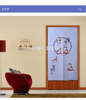 Taiwan Japan cute five cats cloth curtain home act portiere hangings 85cmx150cm 100% Polyester Thicken Door Curtain