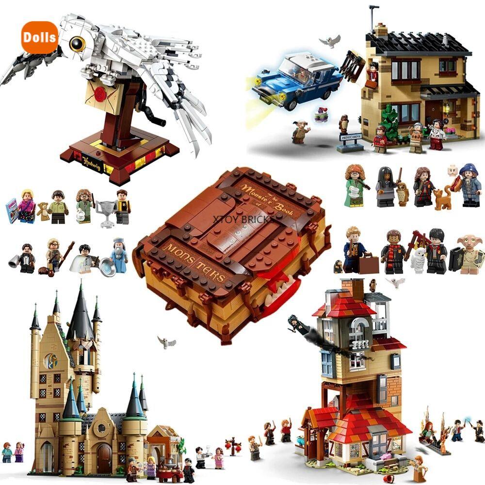 2020 novo castelo mágico harris no céu great hall quidditch jogo expresso buckbeak resgate hedwig blocos de construção tijolos brinquedos