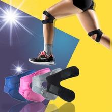 цена на 4C Adjustable Patella Knee Tendon Strap Protector Guard Support Pad Belted Sports Knee Brace Black Keenpads Outdoor