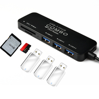 5in1 USB C 허브 어댑터 타입 C-멀티 포트 3 × USB3.0/TF 카드/마이크로 SD 카드 리더기, PC 태블릿 PC USB 분배기에 적합