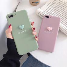 3d чехол для телефона с рисунком сердца красивый мягкий силиконовый