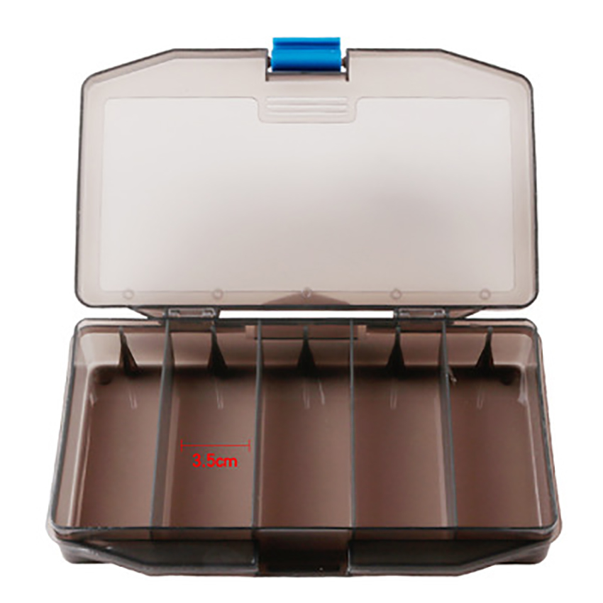 Transparent Toolbox 5 Grid Multi-function Storage Box Screw/Jewelry/Beads/Fishing/Parts Organizer Tools Container Case