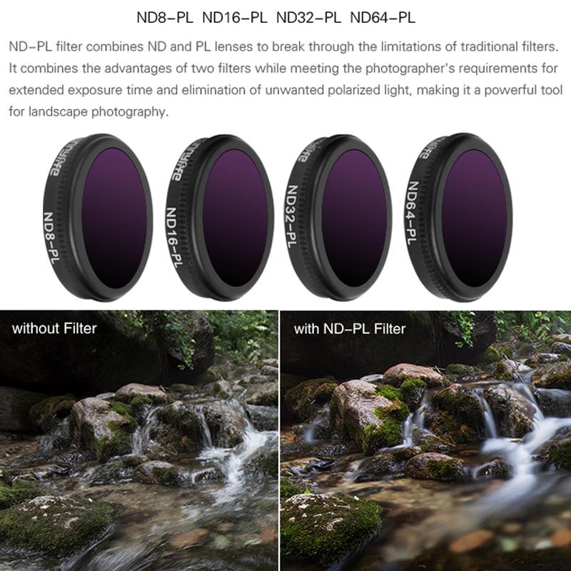 Optional for DJI Phantom 4 Pro Filter HD CPL MC-UV ND4 ND8 ND16 ND32 ND64 Filter Gimbal Camera Neutral Density//Polarizer Filter ND 4