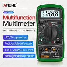 Aneng AN8205C multimetro digital profesional analogico osciloscopio de bancada capacimetro digital multímetro digital profissional multimeter amperimetro digital mutimetro digital voltimetro multímetros lcr meter