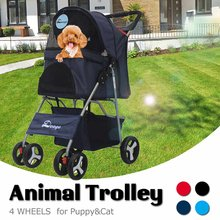 2019NEW Pet Stroller Teddy Puppy Out Trolleys Small Cat Foldable Stroller Lightweight Dog Supplies Top Selling Product In 2019(China)