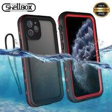 Darbeye dayanıklı sualtı kılıf iPhone 11 Pro kılıf su geçirmez toz geçirmez silikon kapak kılıf iPhone 11 Pro Max telefon kılıfı
