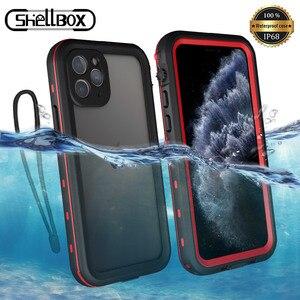 Image 1 - Odporny na wstrząsy podwodny futerał na iPhone 11 Pro Case wodoodporny pyłoszczelny silikonowy pokrowiec na iPhone 11 Pro Max etui na telefon
