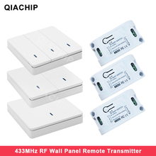 QIACHIP Wall Panel Wireless Remote control Transmitter 1 2 3 Button RF Switch For Light Lamp Bulb Home Living Room Controllor
