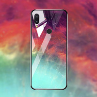 silicone case Tempered Glass Case For xiaomi redmi 7 6A 5 plus Cases Space Silicone Covers for xiaomi redmi note 5 6 7 pro back cover (5)
