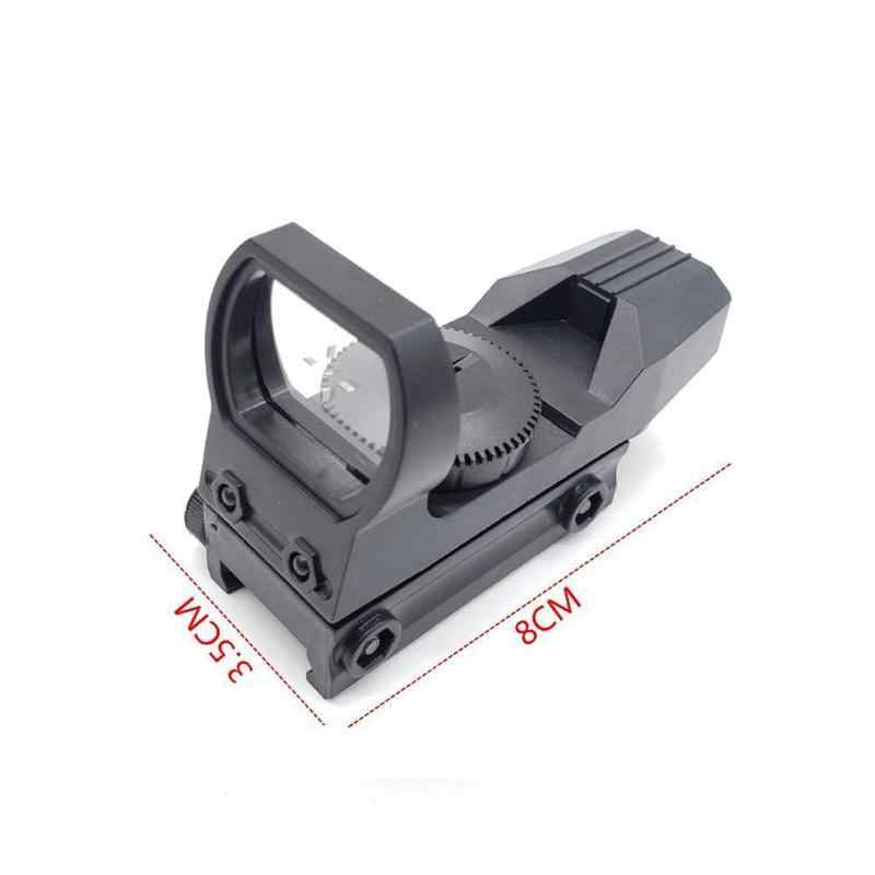 Baru Panas 20Mm Rail Riflescope Berburu Optik Hologram Red Dot Sight Refleks 4 Reticle Taktis Lingkup Pistol Berburu Aksesoris