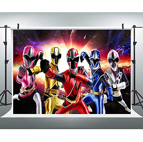 Vinyl Photography Background Power Ranger Backdrop Kids Boy Party Decoration Personalized Name Age Happy Birthday Backgrounds