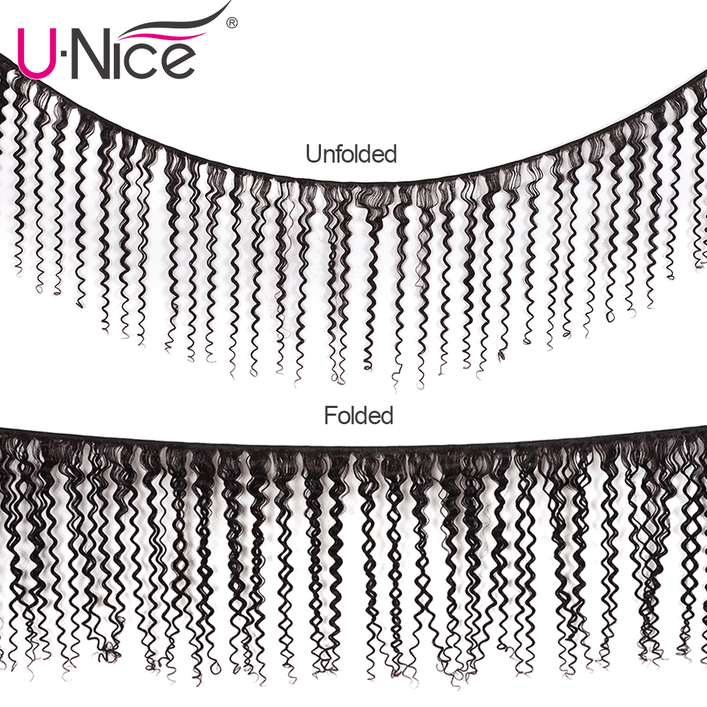 Image 2 - UNice Hair Curly Weave Human Hair With Closure 4/5PCS Brazilian Remy Hair Weave Bundles with Closure Swiss Lace Hair-in 3/4 Bundles with Closure from Hair Extensions & Wigs