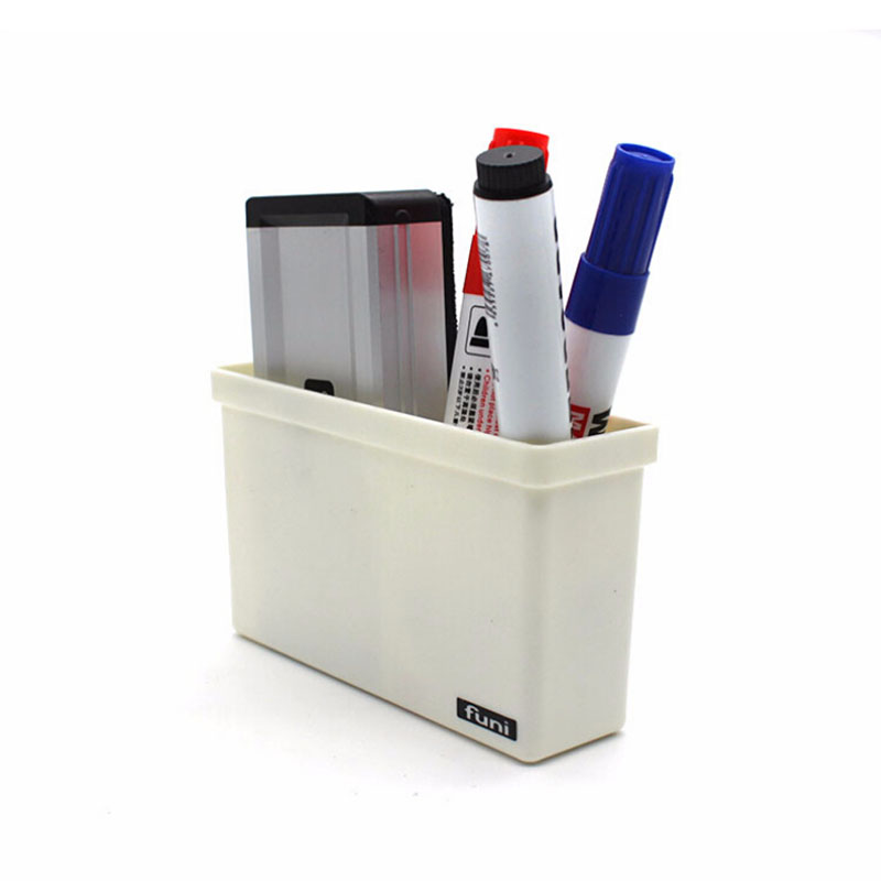 Blackboard Chalk Pens Desk Storage Magnetic Plastic Storage Organiser Drawer Box Home Storage Boxes 128*40*76mm