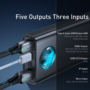Baseus 33W / 65W Power Bank 30000mAh PD Schnell Lade FCP SCP Power Tragbare Externe Ladegerät Für smartphone Laptop Tablet