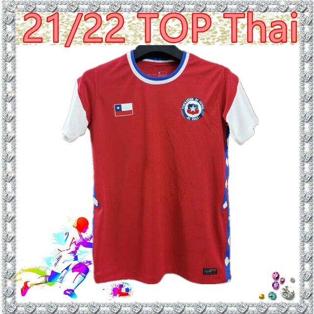 2020 21 Chile Soccer jersey America's Cup Home Red away shirt A.VIDAL VALDIVIA ALEXIS Vidal VARGAS MEDEL Match training uniform 1