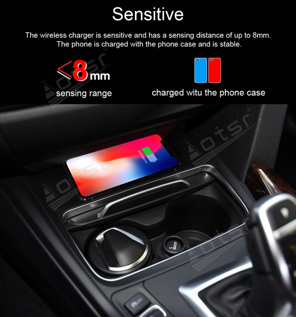 QI Wireless Charge Special On-board Charge Phone Charging Panel Android For BMW 3 4 ser 2016 - 2019 Car Pad Non-slip Accessories 3
