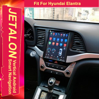 For Hyundai Elantra 2017 Tesla Radio Android 9.0 Stereo GPS Car Multimedia Audio Player 4G Lte Network Navigation IPS SCREEN