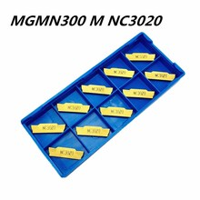 10PCS Slotted blade MGMN300M NC3020 NC3030 PC9030 high quality metal lathe tool CNC machine tool cutting tool carbide slot blade high quality pneumatic cutting blade tool holder