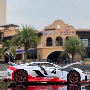 Спортивный гоночный автомобиль Audi GT Le Mans в масштабе 1:32, литой автомобиль из сплава и игрушечные автомобили, металлическая Игрушечная модель автомобиля, коллекционная игрушка для детей Наземный транспорт      АлиЭкспресс
