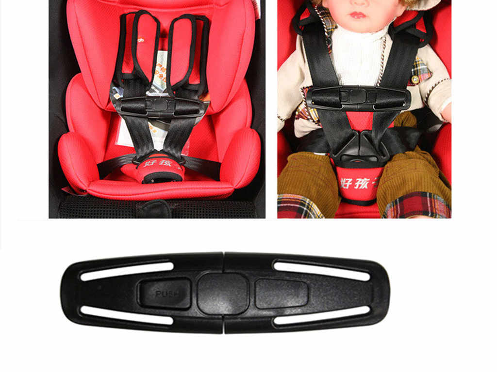 Auto-Styling 1Pc Baby Veiligheid Auto Seat Clip Strap Seat Belt Cover Kind Peuter Borst Harnas Clip Veilig gesp Zwart Freeshipping