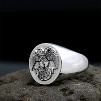 Men`s Mason Freemasonry Masonic 925 sterling silver Ring
