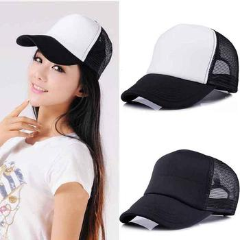 Fashion Leisure Baseball Cap Women Sponge Back Net Breathable Adjustable Summer Mesh Caps for Adult